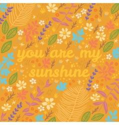 Cartoon floral card vector image