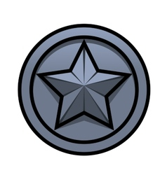 Iron star vector