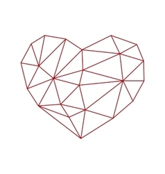 heart low poly vector image