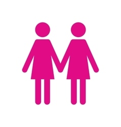 Two women flat icon vector