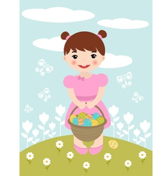 easter girl vector image