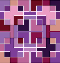abstract geometric purple mosaic vector image