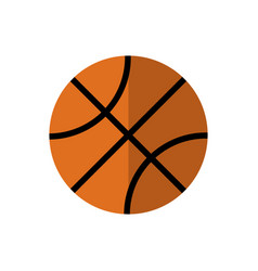 backetball icon on isolated background vector image vector image