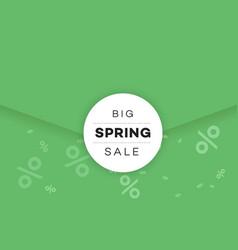 Big spring sale promotional envelope email design vector