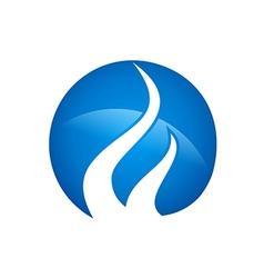 blue gas abstract logo vector image