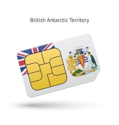 British antarctic territory phone sim card with vector
