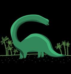 brontosaurus vector image vector image
