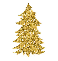 christmas tree by watercolor painting vector image vector image