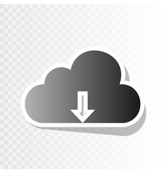 Cloud technology sign new year blackish vector