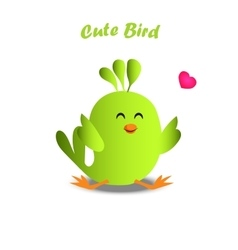 Cute colorful bird vector