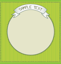 Cute green frame template vector