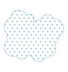 Dotted silhouette cloud callout with cumulus vector