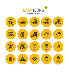Easy icons 11c money vector