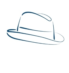 Fedora trilby hat vector