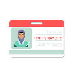 fertility medical specialist badge vector image vector image