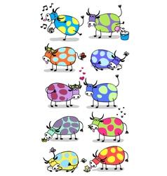 Funny cows set vector image