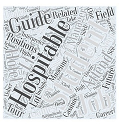 Future Jobs For Hospitality Students Word Cloud vector image vector image