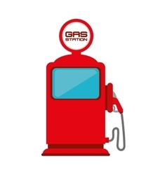 Gas pump station vector