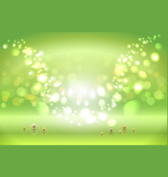 green shiny sparkles vector image vector image