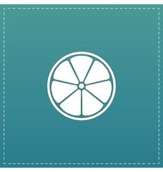 Half of lemon icon vector