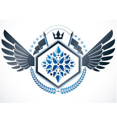 Heraldic emblem isolated vector