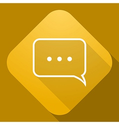 icon of Speech Bubble with a long shadow vector image vector image
