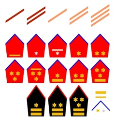 Insignia of the belgian royal army vector