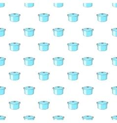Kitechen pot pattern cartoon style vector image