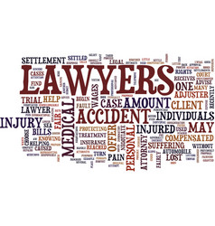 lawyers how they negotiate personal injury vector image