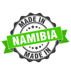 Made in namibia round seal vector