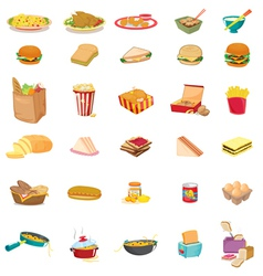 mixed food vector image