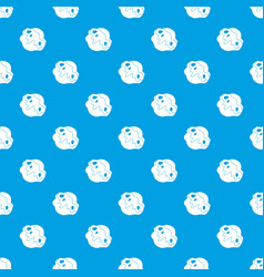 Moon stone pattern seamless blue vector