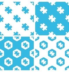 Puzzle piece patterns set vector