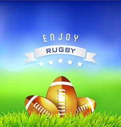 Rugby Time Background vector image