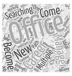 Should you become an office manager word cloud vector