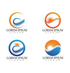 sun logo and symbols star icon web - vector image vector image
