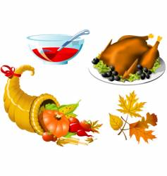 thanksgiving symbols vector image