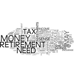 When iras k s and other tax sheltered investments vector