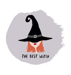 witch in hat vector image vector image