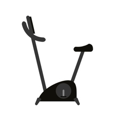 Stationary bicycle icon vector