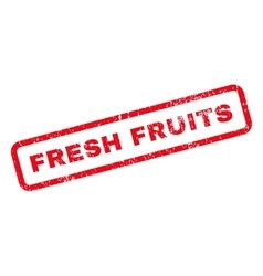 Fresh fruits text rubber stamp vector