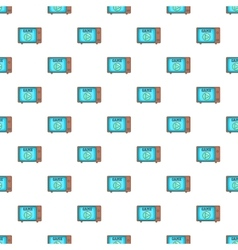 Video player on the screen of retro TV pattern vector image