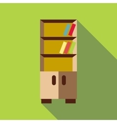 Bookcase icon flat style vector