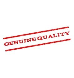 Genuine quality watermark stamp vector