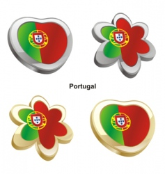 Flag of portugal vector
