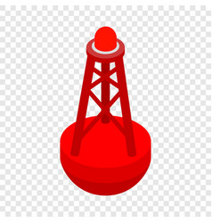 Marine buoy isometric icon vector