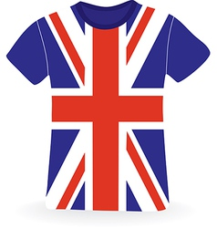 T-shirt with flag of uk vector
