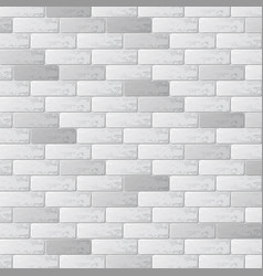 Gray brick wall background vector