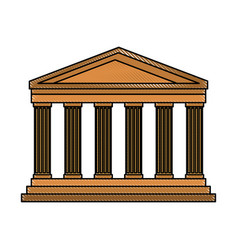Pantheon italy landmark vector