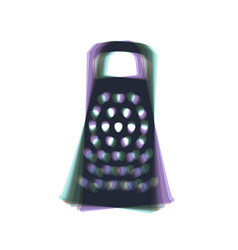 Cheese grater sign  colorful icon shaked vector